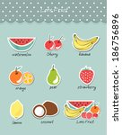 vector illustration fruit of... | Shutterstock .eps vector #186756896
