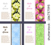 wedding invitation cards with...   Shutterstock . vector #186757595