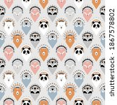 cute seamless pattern with... | Shutterstock .eps vector #1867578802