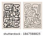 mid century modern minimalist... | Shutterstock .eps vector #1867588825