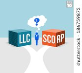 llc or s corporation options... | Shutterstock .eps vector #186759872