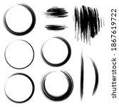 round paint brush black stroke... | Shutterstock .eps vector #1867619722