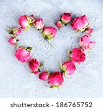 Heart Of Beautiful Pink Dried...