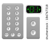 lift the control panel on a... | Shutterstock . vector #186767318