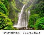 Sendang Gile Waterfall Is A...