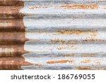 old zinc background texture... | Shutterstock . vector #186769055