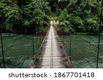 Suspension Bridge Crossing The...