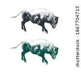 Illustration Design Of Bull....
