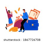 tiny people surrounded with... | Shutterstock .eps vector #1867726708