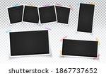 blank instant photo frames... | Shutterstock .eps vector #1867737652