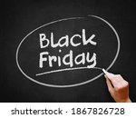 a hand writing 'black friday'...   Shutterstock . vector #1867826728