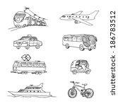 passenger transport . doodle...   Shutterstock .eps vector #186783512