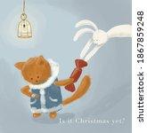 the white rabbit illustrated...   Shutterstock . vector #1867859248