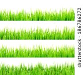 fresh spring green grass... | Shutterstock .eps vector #186786272