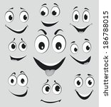 facial expressions  cartoon... | Shutterstock .eps vector #186788015