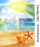 creative graphic summer design. ... | Shutterstock .eps vector #186788402