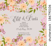 wedding invitation | Shutterstock .eps vector #186790106