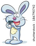 bunny takes a photo | Shutterstock .eps vector #186790742