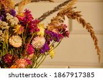 Multicolored Dried Flowers In...