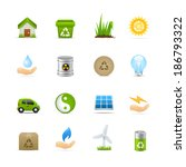 recycling   green energy icon... | Shutterstock .eps vector #186793322