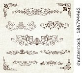 vintage frames and scroll... | Shutterstock .eps vector #186794462