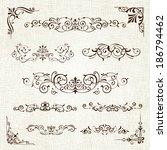 vintage frames and scroll... | Shutterstock .eps vector #186794462