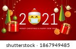 merry christmas and happy new... | Shutterstock .eps vector #1867949485
