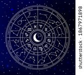 zodiac astrology circle....   Shutterstock . vector #1867971898