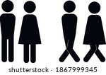 Set Of Wc Sign Icon Vector...