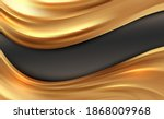 beautiful gold satin. drapery... | Shutterstock .eps vector #1868009968