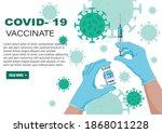 covid 19 coronavirus vaccine... | Shutterstock .eps vector #1868011228
