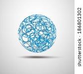 globe design vector... | Shutterstock .eps vector #186801302