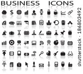 business icons | Shutterstock .eps vector #186803492