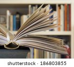 opened book close up with... | Shutterstock . vector #186803855