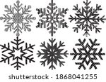grunge textured snowflakes... | Shutterstock .eps vector #1868041255