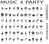 party and music icons | Shutterstock .eps vector #186806012