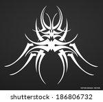 patterns of tribal tattoo.... | Shutterstock .eps vector #186806732