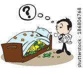Man Saving Money Under Bed...