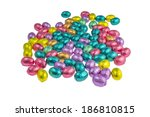 chocolate easter egg wrapped in ... | Shutterstock . vector #186810815