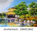 Oil Painting   Japanese Garden  ...