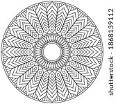 circular pattern in form of... | Shutterstock .eps vector #1868139112