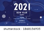 abstract new year 2021 party... | Shutterstock .eps vector #1868156935