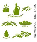 set of green olive design... | Shutterstock .eps vector #186817085
