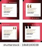 quote box frames set  speech...   Shutterstock .eps vector #1868183038