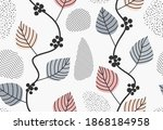 Vines And Ivy Background With...