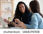 smiling multiracial female...   Shutterstock . vector #1868190508