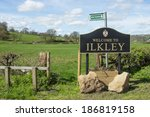 Ilkley Town Sign In Uk With...