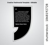creative testimonial templates  ...   Shutterstock .eps vector #1868192728