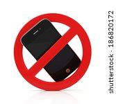 No Cell Phone Sign Isolated On...