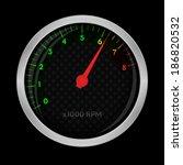 tachometer on black  bitmap...   Shutterstock . vector #186820532